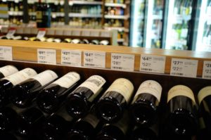 choose wine in the supermarket